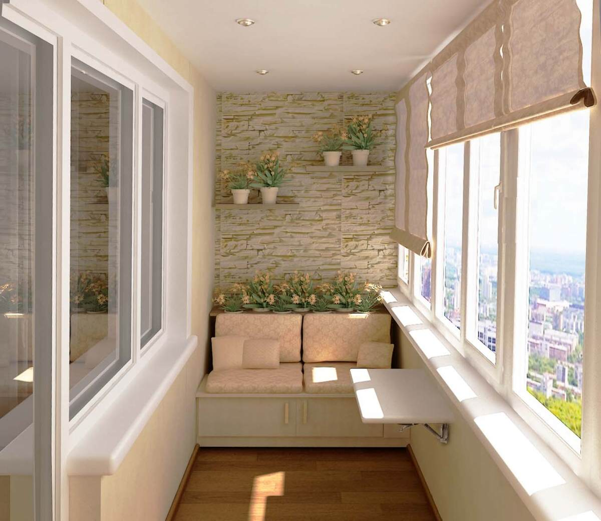 Уютный балкон своими руками